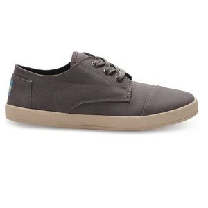 TOMS Paseo Ash Canvas Lace-Up Sneakers